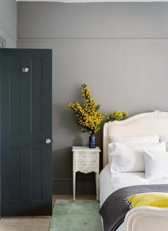 Farrow & Ball Stilvoll wohnen mit Farbe Plummett Railings Schlafzimmer