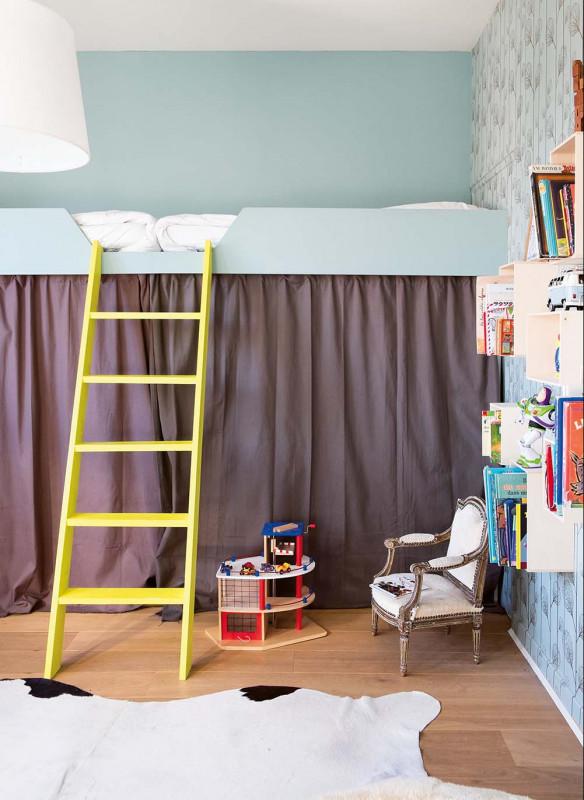 Farrow & Ball Stilvoll wohnen mit Farbe Yellow Cake Kinderzimmer Hochbett