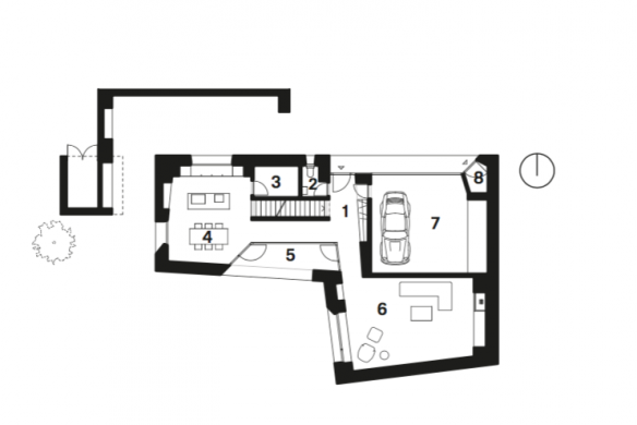 Grundriss EG Einfamilienhaus KREN Architektur