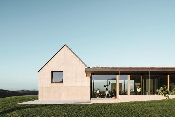 Häuser des Jahres 2016 Flachdach Dammbeton Aussenansicht