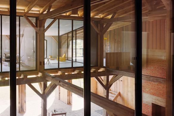 Häuser des Jahres 2016 umgebaute Scheune Holztragwerk