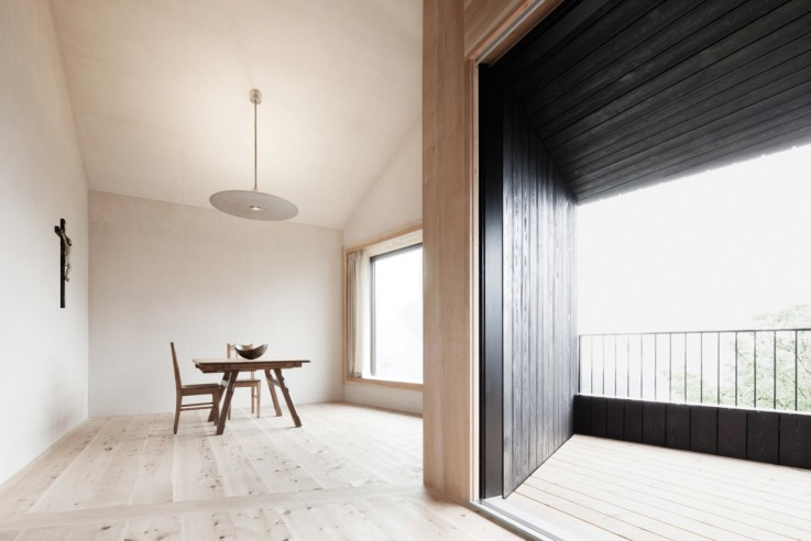 Pedevila Architects Architekten Ferienhaus Dolomiten Innen Wohnen