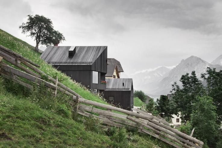 Pedevilla Architects Architekten Ferienhaus Dolomiten Chalet Aussen