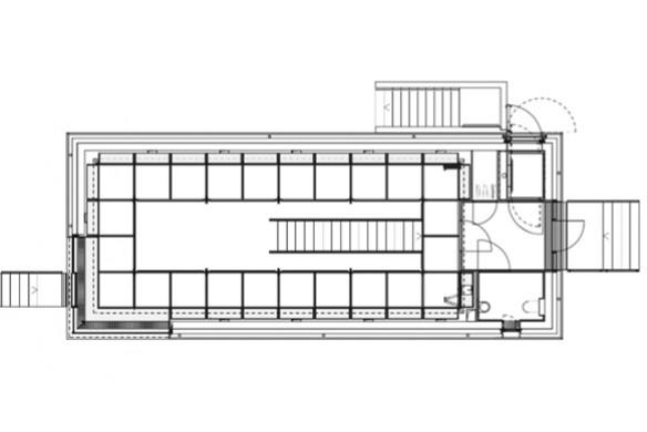 Ausgezeichneter Stahlbau 2016 Privatbibliothek Hamburg gap Grundriss EG