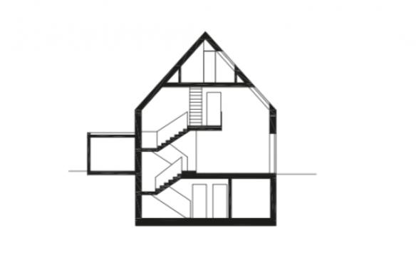 Querschnitt Einfamilienhaus Falke Architekten