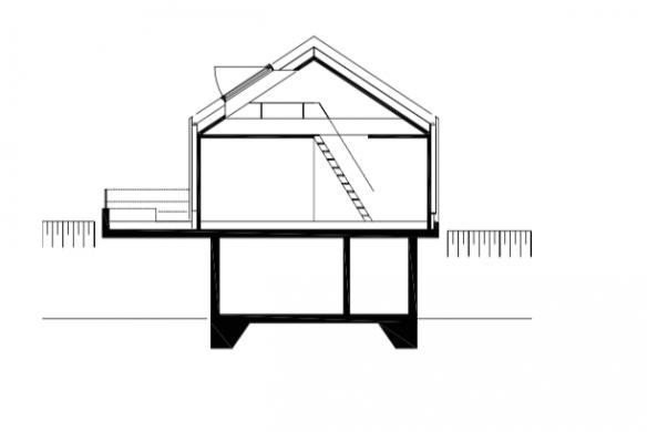 Querschnitt Einfamilienhaus Backraum Architektur