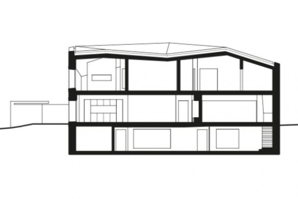 Schnitt Einfamilienhaus KREN Architektur