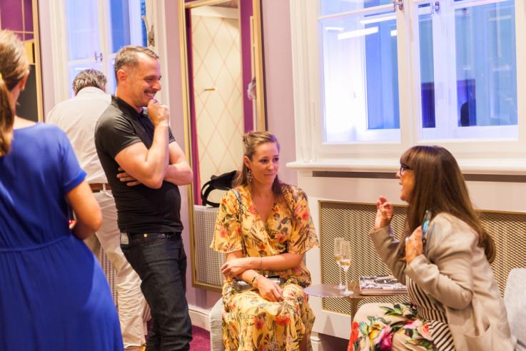 Fashion at Home Wohnbuch Book Launch Kunden Party Renate Schremms