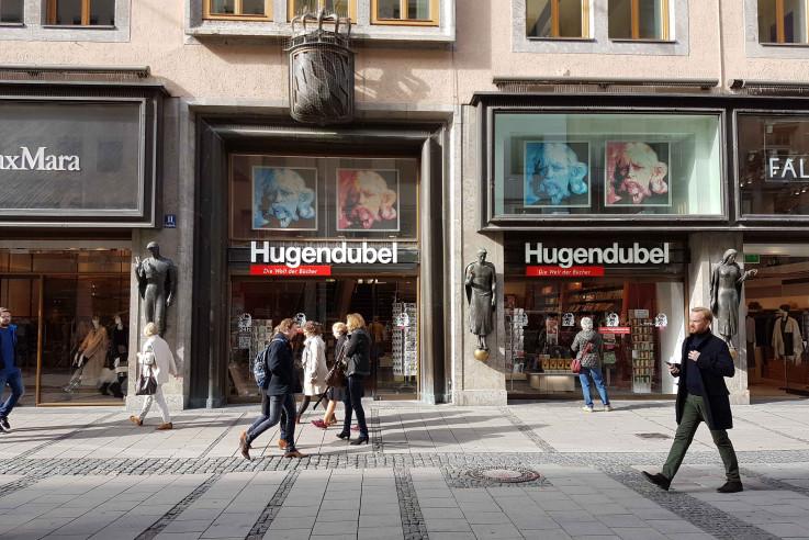 Eingang Hugendubel Theatinerstraße.