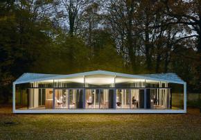 Barkow Leibinger ausgeichneter Stahlbau Fellows Pavilion American Academy Berlin