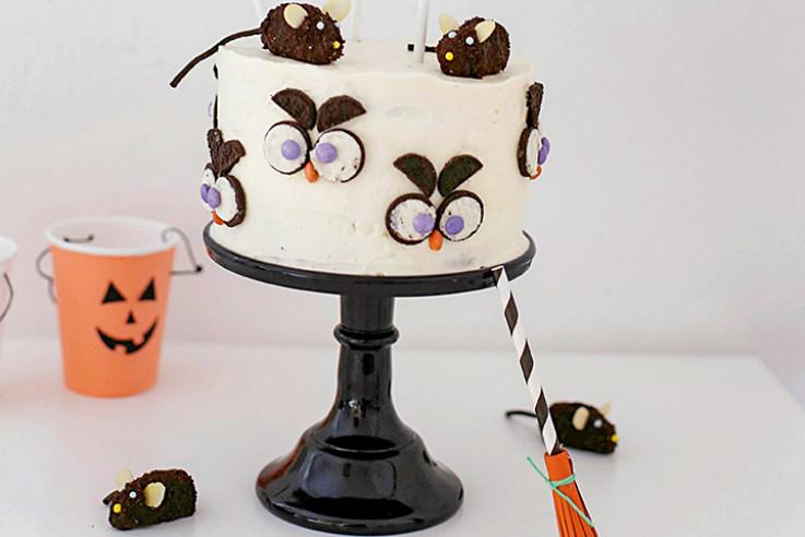 gruselige oreo torte halloween rezept kinderparty. Black Bedroom Furniture Sets. Home Design Ideas