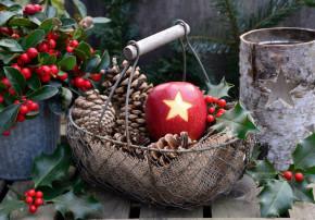 kreative Adventszeit Wintertraum und Weihnachtszeit Dekoidee