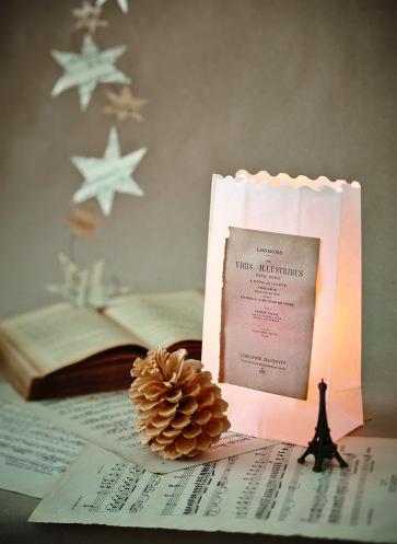 Musikalische Weihnachtsdekoration Lichttüte weihnachten_papier_diy_0100pressebild