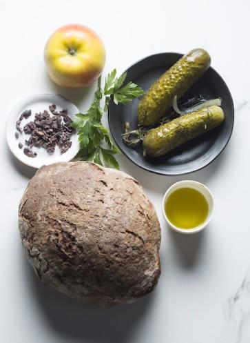 Easy Peasy vegan Kochbuch Spreestulle Gurke Brot