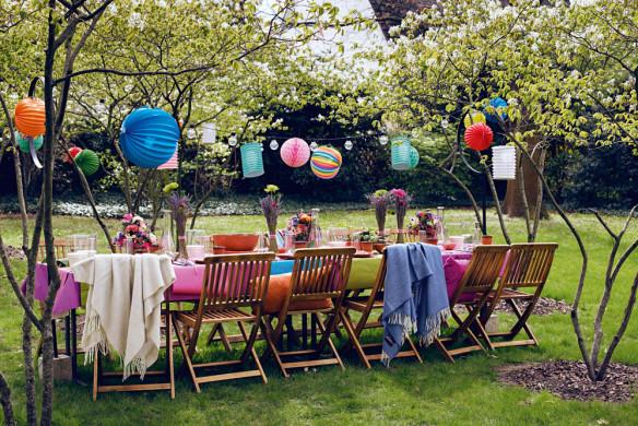 Tischkultur dekorieren Feste Gäste Callwey Gartenparty