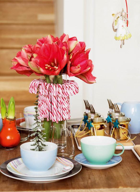 Tischkultur dekorieren Feste Gäste Callwey Weihnachten bunt modern