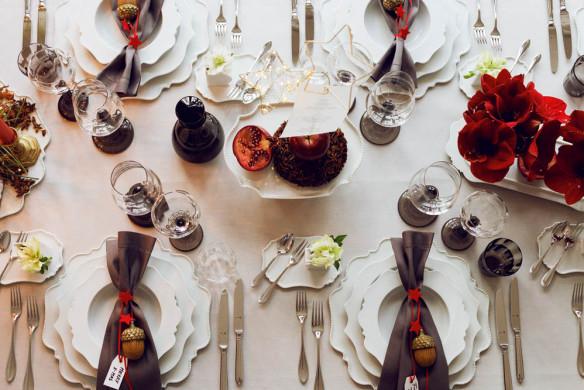 Tischkultur dekorieren Feste Gäste Callwey Weihnachtstafel klassisch