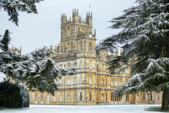 Highclere Castle im Winter