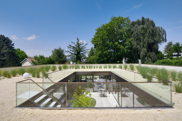 Die besten Einfamilienhäuser aus Beton Einfamilienhausarchitektur Architekturbuch F64 Architekten Wohnhaus V3 Dachgarten