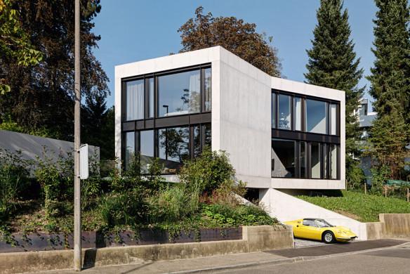 Die besten Einfamilienhäuser aus Beton Einfamilienhausarchitektur Architekturbuch Lupo.Zuccarello Architekten Privathaus T