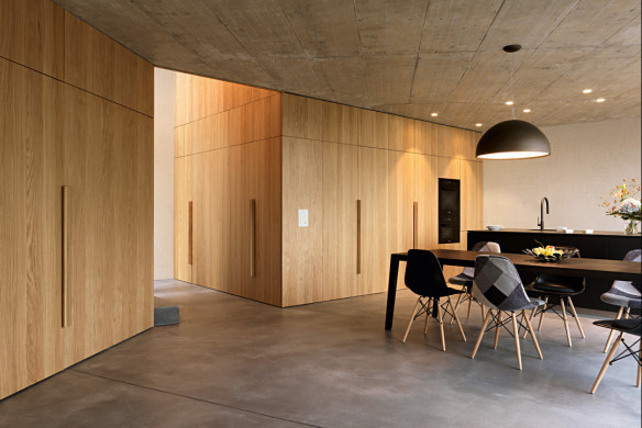 Die besten Einfamilienhäuser aus Beton Einfamilienhausarchitektur Architekturbuch Lupo.Zuccarello Architekten Privathaus T Esszimmer