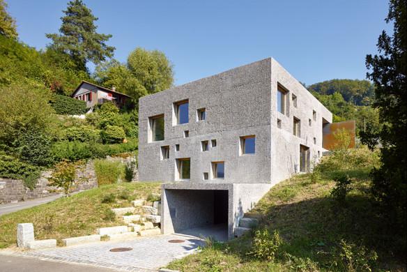 Die besten Einfamilienhäuser aus Beton Einfamilienhausarchitektur Architekturbuch Wespe de Meuron Architekten Einfamilienhaus Schweiz