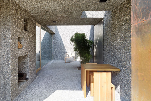 Die besten Einfamilienhäuser aus Beton Einfamilienhausarchitektur Architekturbuch Wespe de Meuron Architekten Einfamilienhaus Schweiz Atrium