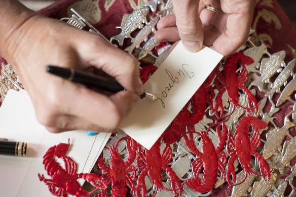 Grossartige Gastgeberinnen einladen Gäste Callwey Einladungskarte schreiben Füller