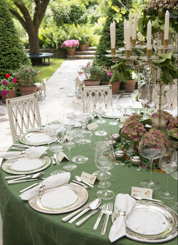 Grossartige Gastgeberinnen Einladen Gäste Callwey Wintergarten Besteck Silber Tafel