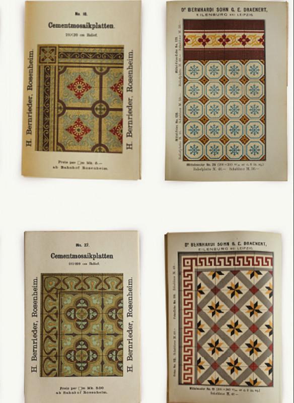 Ornament und Farbe Zementmosaik VIA Platten historische Musterbücher