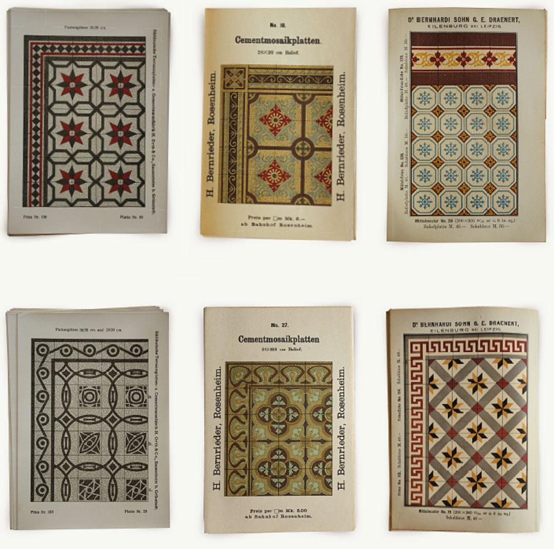 Ornament und Farbe | VIA Platten | Zementmosaik | Innenarchitektur Buch
