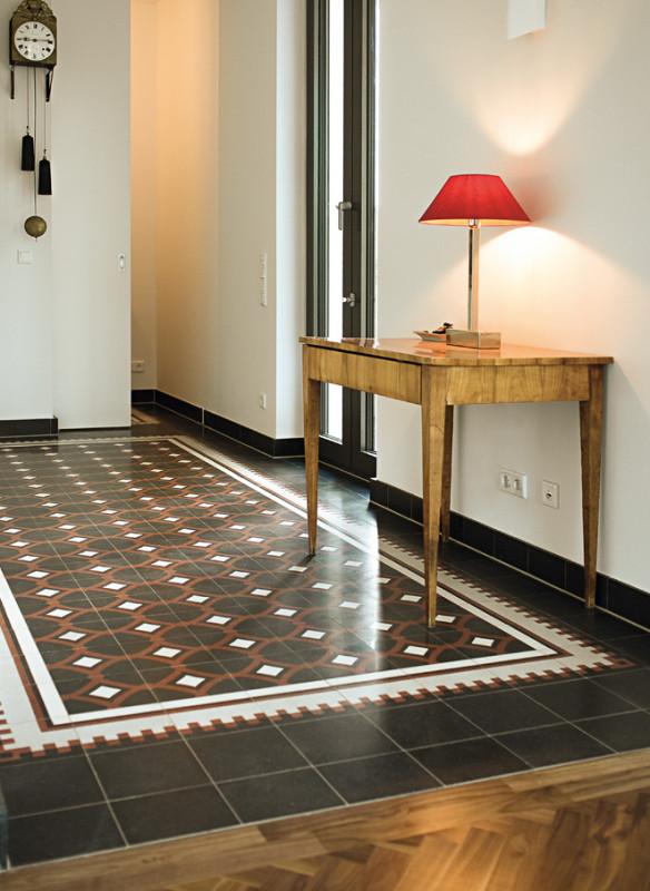 Ornament und Farbe Zementmosaik VIA Platten Terrazzoplatten in Küche