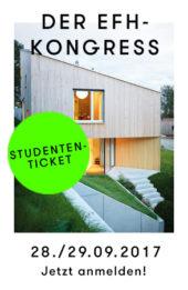 EFH-Kongress Event für Einfamilienhaus-Architektur Studenten-Ticket jetzt kaufen