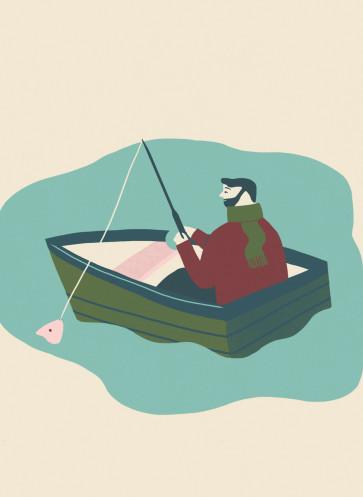 Lagom leben in Balance Callwey Natur geniessen See Boot