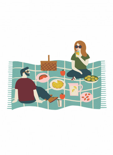 Lagom leben in Balance Callwey Picknick Familie