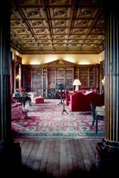 Bibliothek Highclere Castle Downton Abbey
