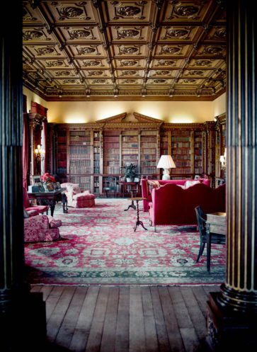 Bibliothek Highclere Castle Downton Abbey