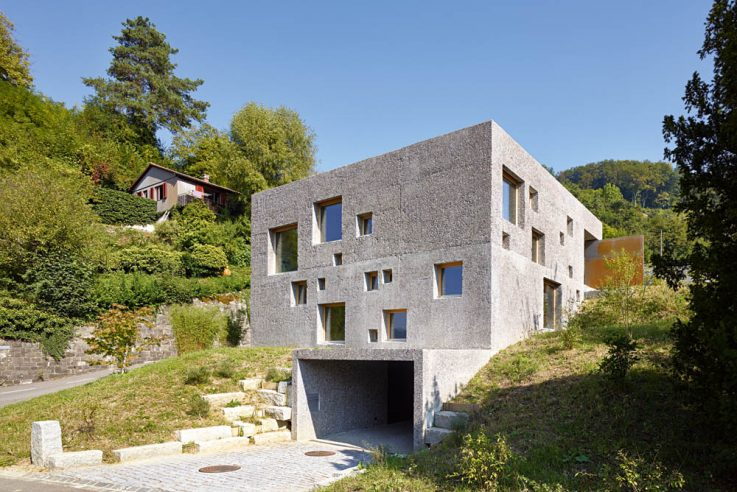 Wohnen in Beton Einfamilienhäuser aus Beton Betonhaus bauen Wespi De Meuron