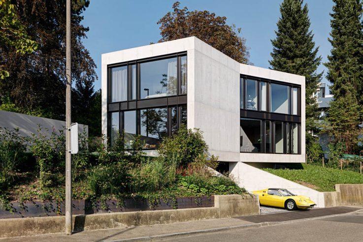 Wohnen in Beton Einfamilienhäuser aus Beton Betonhaus bauen Lupo Zucarello Architekten