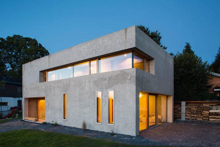 Wohnen in Beton Einfamilienhäuser aus Beton Betonhaus rh Architektur