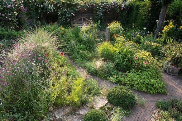Gartenüberblick im Kiesgarten