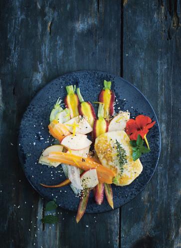 Karotten Apfel Halloumi Salat Wintersalat Callwey Kochbuch