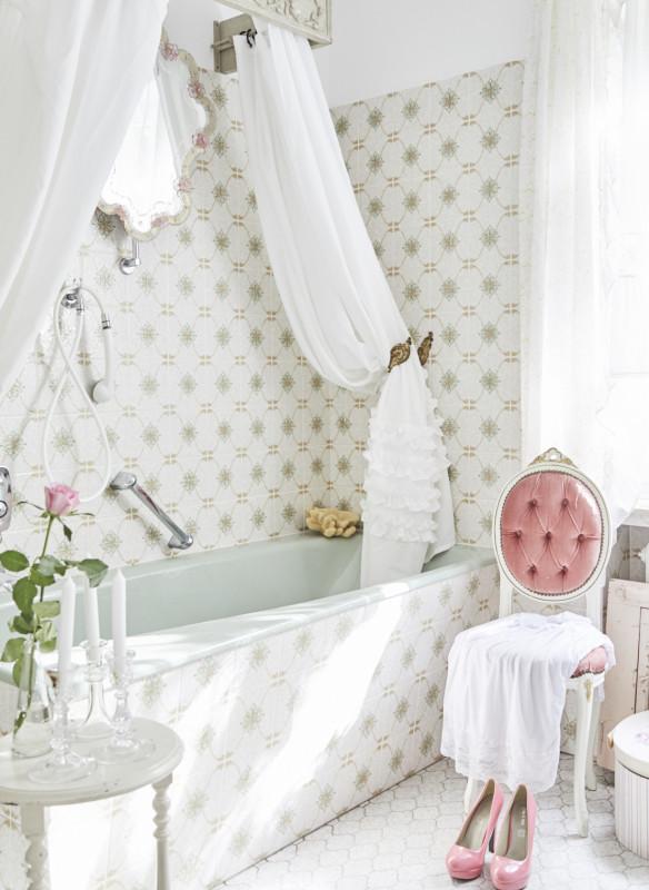 Shabby Chic Wohnbuch Badezimmer rosa