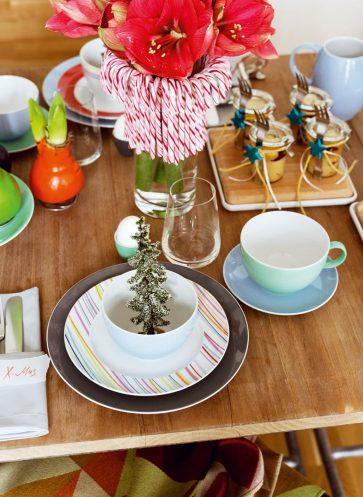 tischkultur callwey wohnbuch weihnachten bunt miniature Weihnachtsbaum