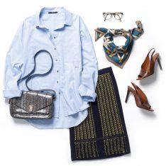 wir lieben vintage callwey modebuch seidenkarree outfit rock pumps