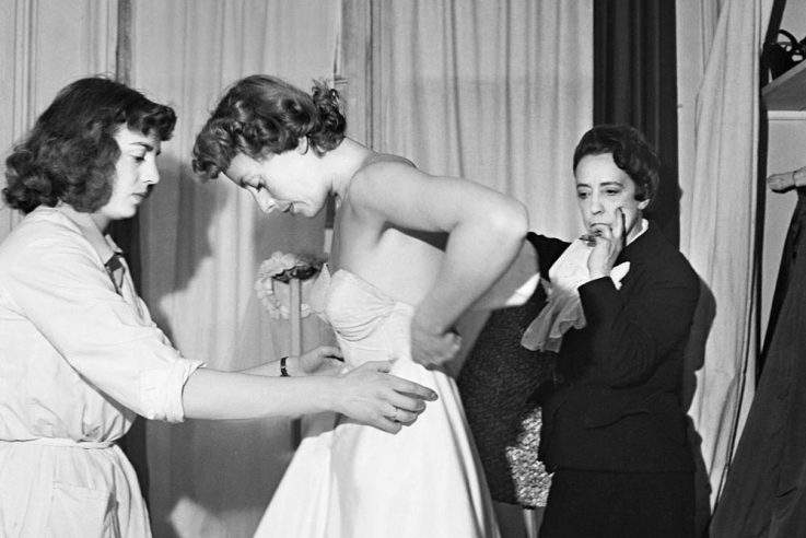 Designer Elsa Schiaparelli Fitting Model
