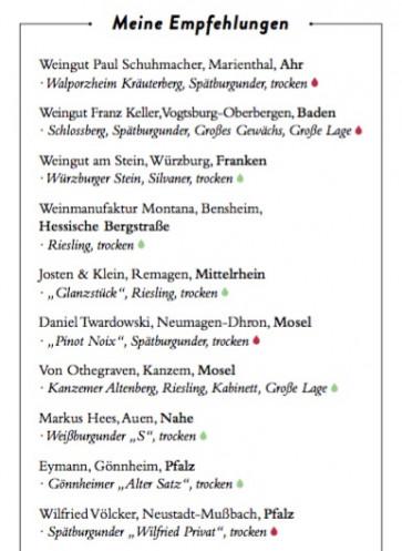 Paula Bosch weinempfehungen Deutschland