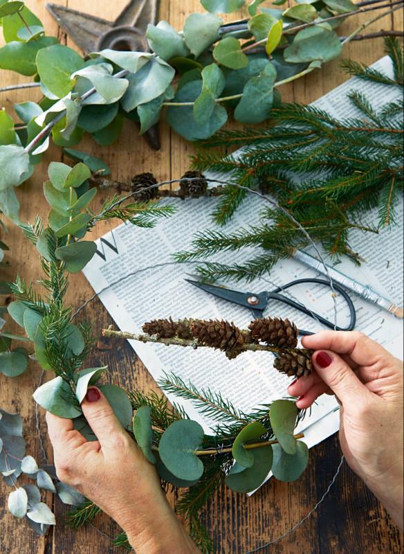 Weihnachten in den Bergen Wohnbuch Callwey Dekoration Advent DIY Kranz