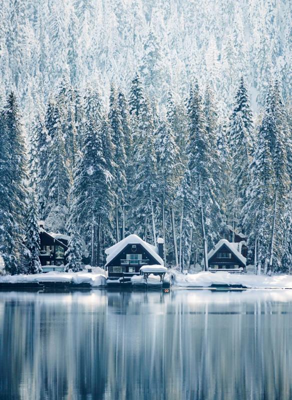 Weihnachten in den Bergen Wohnbuch Callwey Eis See Wald