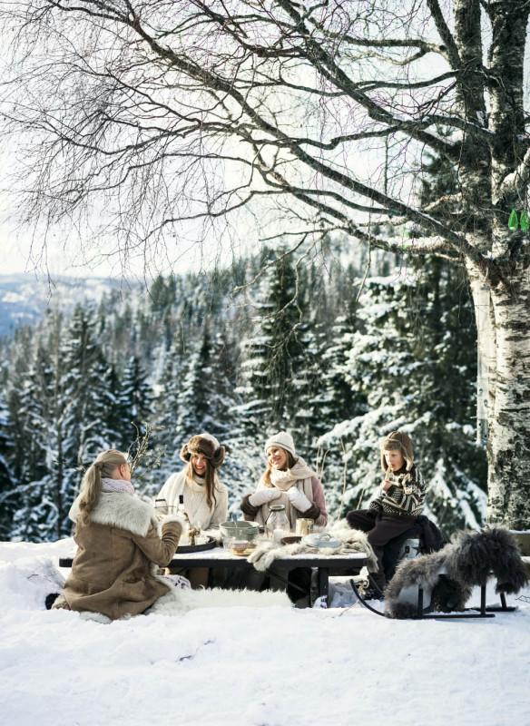 Weihnachten in den Bergen Wohnbuch Callwey Picknick Schnee